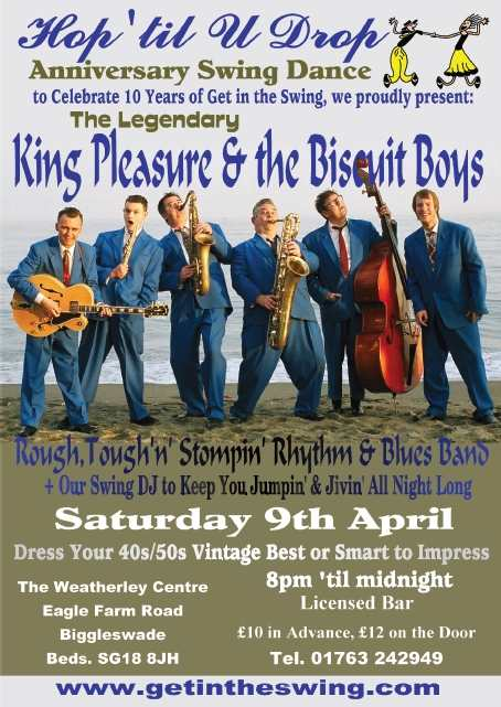 King Pleasure & The Biscuit Boys Flyer 9-4-11